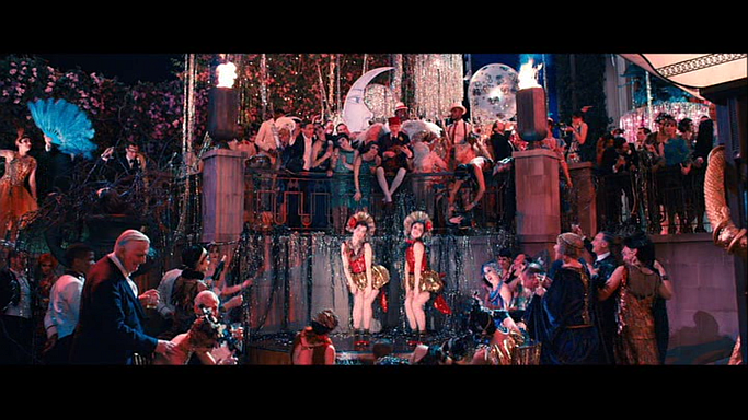 "Jeff Duff astride the whole party, in knickerbockers, in Baz Luhrmann's ""The Great Gatsby"""