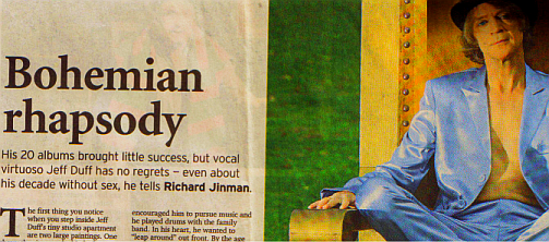 Article on Jeff Duff in the Sydney Morning Herald 2004