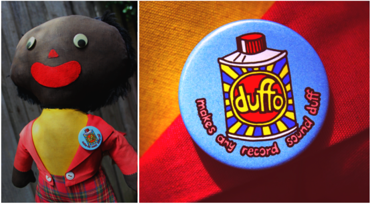 Duffo badge modelled by Golly