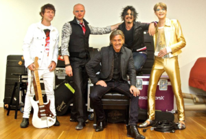 Pre-show promo pic of Housden, Stace, Ellis, Balbi and Duff